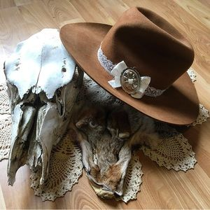 ✨Vintage Up-cycled Cowgirl Hat✨